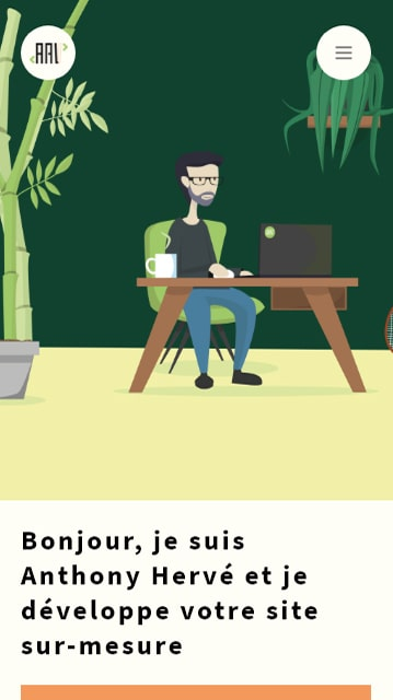 mobile Home page Anthony Hervé