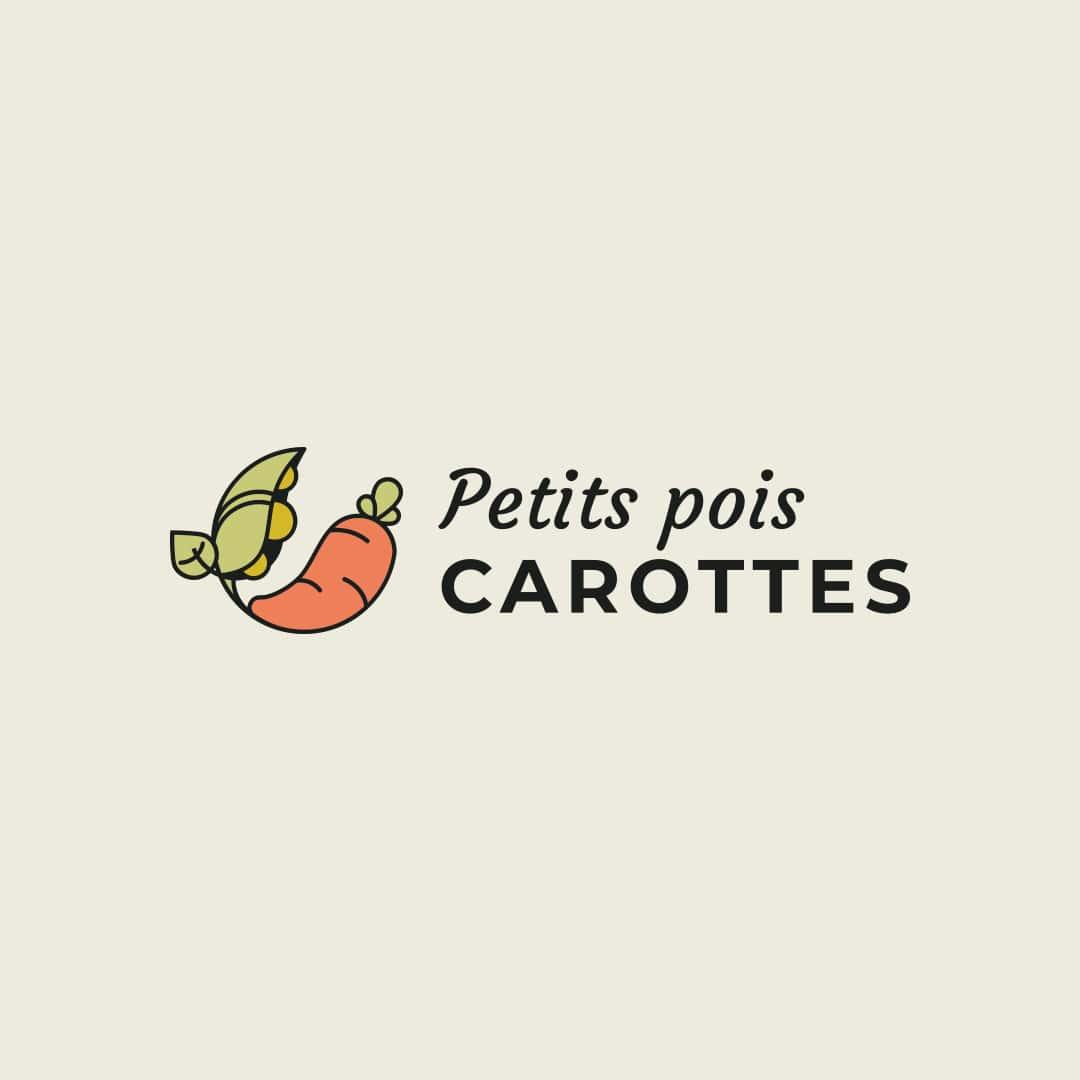 Logo petits pois carottes