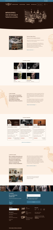 Page d'accueil de Vapeur d'Encres