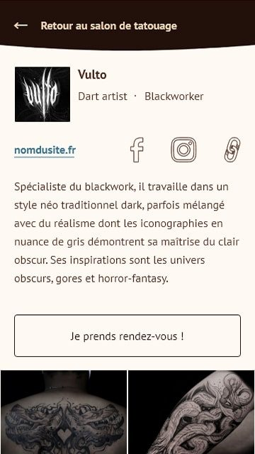 fiche artiste du site Vapeur d'Encres
